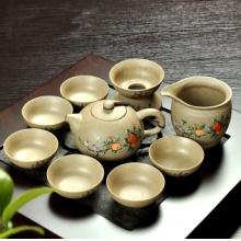 创意粗陶瓷老岩泥茶海茶道陶瓷功夫茶具茶壶套装TF3418 富居山春茶具