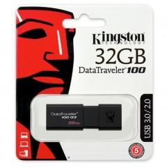 金士顿(Kingston)32G U盘 USB3.0 DT100G3 系统投标车载优盘 高速U盘